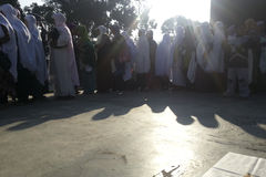 INDONESIA MUSLIM GATHERING AFTER PRAYER Stock Image