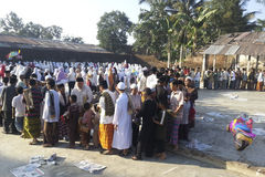 INDONESIA MUSLIM MAJORITY DEMOCRACY NATION. Indonesian muslim villagers gather on the holy day of Aid el-Fitri, in Banjarnegara, Java, Indonesia. The 260 Royalty Free Stock Photo