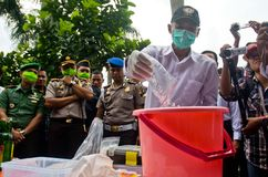 INDONESIA NARCOTICS EXTERMINATION Stock Photo