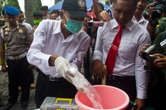 INDONESIA NARCOTICS EXTERMINATION Stock Photography