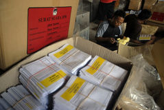 INDONESIA NEW SYSTEM OF ELECTIONS Royalty Free Stock Photography