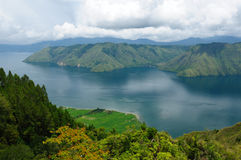 Indonesia, North Sumatra, Danau Toba. Indonesia, North Sumatra, View from the Samosir island on the Danau Toba (Toba lake Stock Image