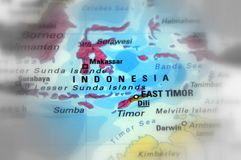 Republic of Indonesia. Indonesia, officially the Republic of Indonesia black and white selective focus royalty free stock images