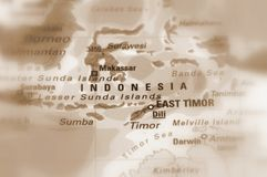 Republic of Indonesia. Indonesia, officially the Republic of Indonesia sepia selective focus stock images