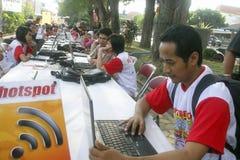 INDONESIA PARA AUMENTAR EL FONDO DE LA TECNOLOGÍA Imagen de archivo