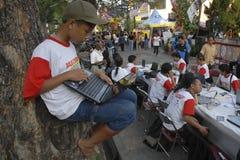 INDONESIA PARA AUMENTAR EL FONDO DE LA TECNOLOGÍA Imagenes de archivo