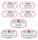 Indonesia passport stamps Royalty Free Stock Images