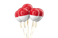 Indonesia patriotic balloons holyday concept Royalty Free Stock Photo