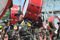 Indonesia Police Marching Band Stock Photos
