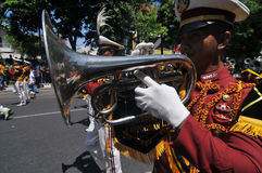 Indonesia Police Marching Band Stock Images