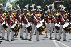 Indonesia Police Marching Band Royalty Free Stock Image