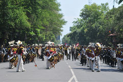 Indonesia Police Marching Band Royalty Free Stock Photos
