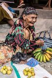 Indonesia: portrait of senior market vendor Stock Photo