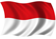 Indonesia - Republic of. Flag of Republic of Indonesia billowing gently in the breeze Stock Photography