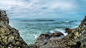 Indonesia Rocky Beach Surf Timelapse 4k stock video footage