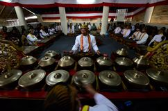 INDONESIA ROYAL GAMELAN ORCHESTRA. Stock Photo