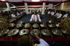 INDONESIA ROYAL GAMELAN ORCHESTRA. Stock Image