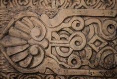 Indonesia rzeźba na kamieniu z zmroku stylem i szczegółu wzorem Zdjęcie Stock