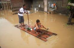 INDONESIA SEASONAL FLOODING stock photo