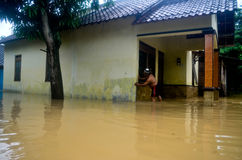 INDONESIA SEASONAL FLOODING Royalty Free Stock Image
