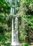 Indonesia - Sendang Gile Waterfall royalty free stock image