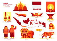 Indonesia, Sign and symbol. Indonesia, Sign and symbol, Vector infographics illustration Stock Photo