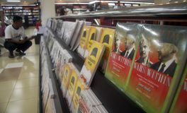 INDONESIA SUHARTO POPULARITY. Books about late Indonesian dictator Suharto on a bookstore of Solo, Java, Indonesia. Despite many Indonesians harshly criticize stock photography