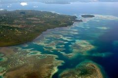 Indonesia Sulawesi Manado Area Aerial view Stock Image