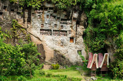 Indonesia, Tana Toraja, Ancient tomb Stock Photos