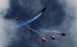 Indonesia Team Jupiter aeroacrobacia Fotos de archivo libres de regalías