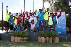 Indonesia Team of Water Ski Stock Photo