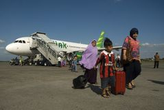 INDONESIA TO DOUBLE TRANSPORT BUDGET ON FUEL GAIN. A launching of new flight route of Indonesian Low Cost Carrier Citilink in Solo, Java, Indonesia. Indonesia Stock Images