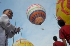 INDONESIA TRADITIONAL AIR BALLOON FESTIVAL Stock Image