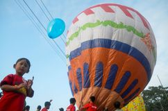 INDONESIA TRADITIONAL AIR BALLOON FESTIVAL Stock Photo