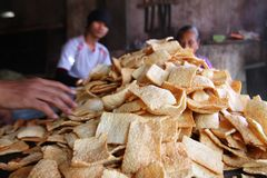 Indonesia traditional crackers karak Royalty Free Stock Image