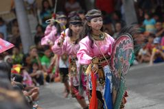 INDONESIA TRADITIONAL DANCE Stock Image