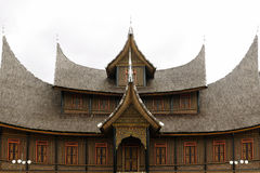 Indonesia traditional house on the West Sumatra island Royalty Free Stock Photography