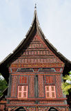 Indonesia traditional house on the West Sumatra island Royalty Free Stock Image
