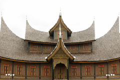 Indonesia traditional house on the West Sumatra island Stock Photo