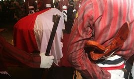 Indonesia traditional music maestro funeral Stock Photography