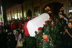 Indonesia traditional music maestro funeral Stock Photo