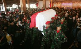 Indonesia traditional music maestro funeral Royalty Free Stock Images