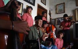 Indonesia traditional music maestro Stock Image