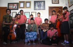 Indonesia traditional music maestro Stock Photography