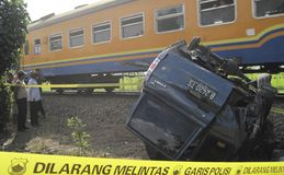 INDONESIA TRAFFIC ACCIDENT CASUALTIES Royalty Free Stock Photography