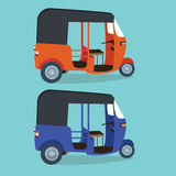 Indonesia transportaion drawing flat vector illustration Royalty Free Stock Photography