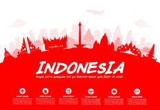 Indonesia Travel Landmarks. Royalty Free Stock Image