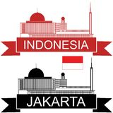 Indonesia. Vector illustration (EPS 10 Royalty Free Stock Photography