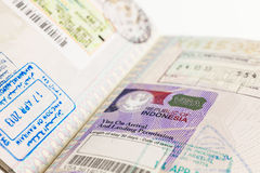 Indonesia Visa royalty free stock image