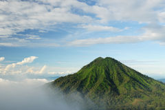 Indonesia, volcán de Raung Fotos de archivo libres de regalías